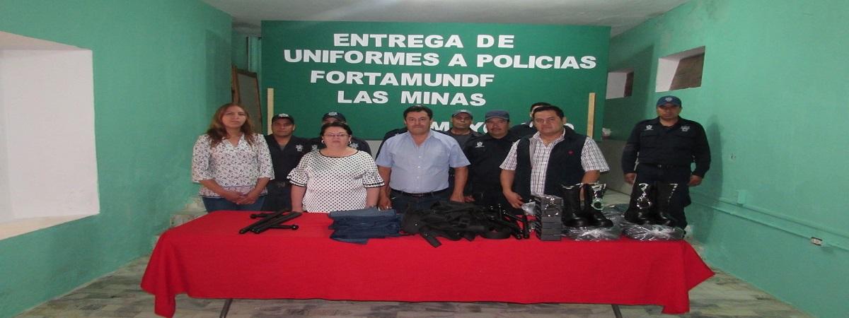 Entrega de Uniformes A Policías Municipales del FORTAMUND 2019